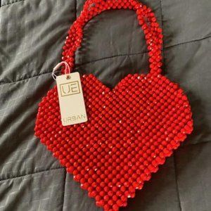 Urban Expressions Beaded Heart Bag